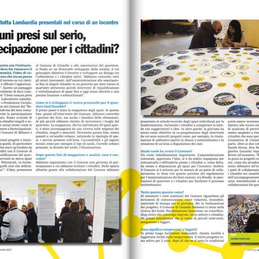 Due pagine tratte dall'Articolo con intervista di Anci Lombardia a Needle