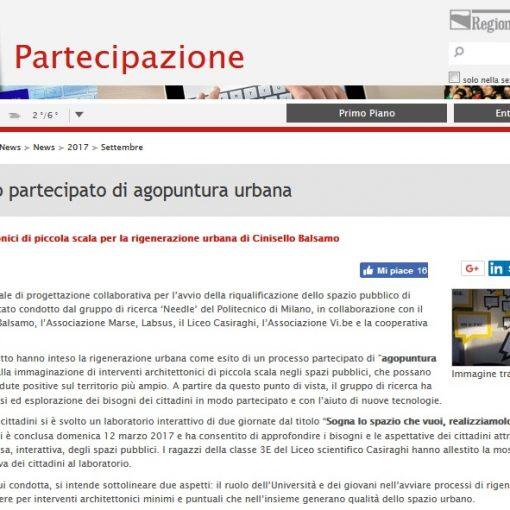 Screenshot dal sito della regione Emilia Romagna