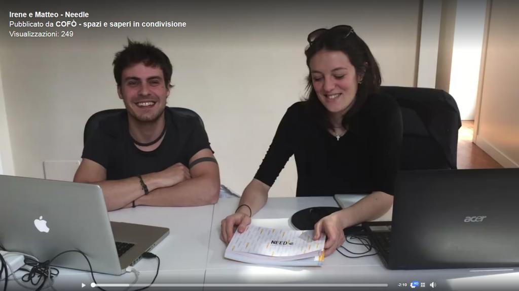 Schermata video di Cofò - coworking